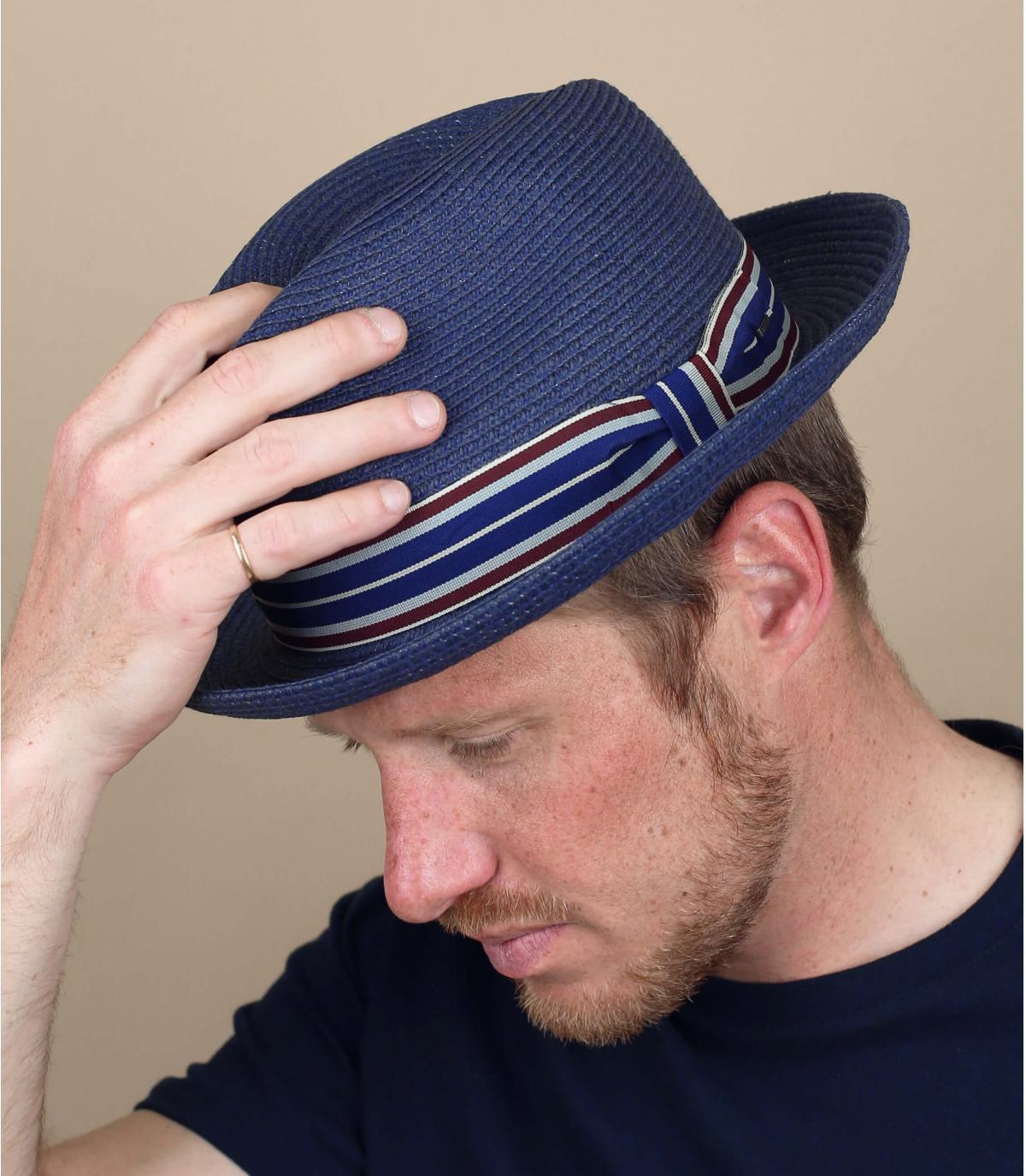 cappello paglia blu marino Bailey