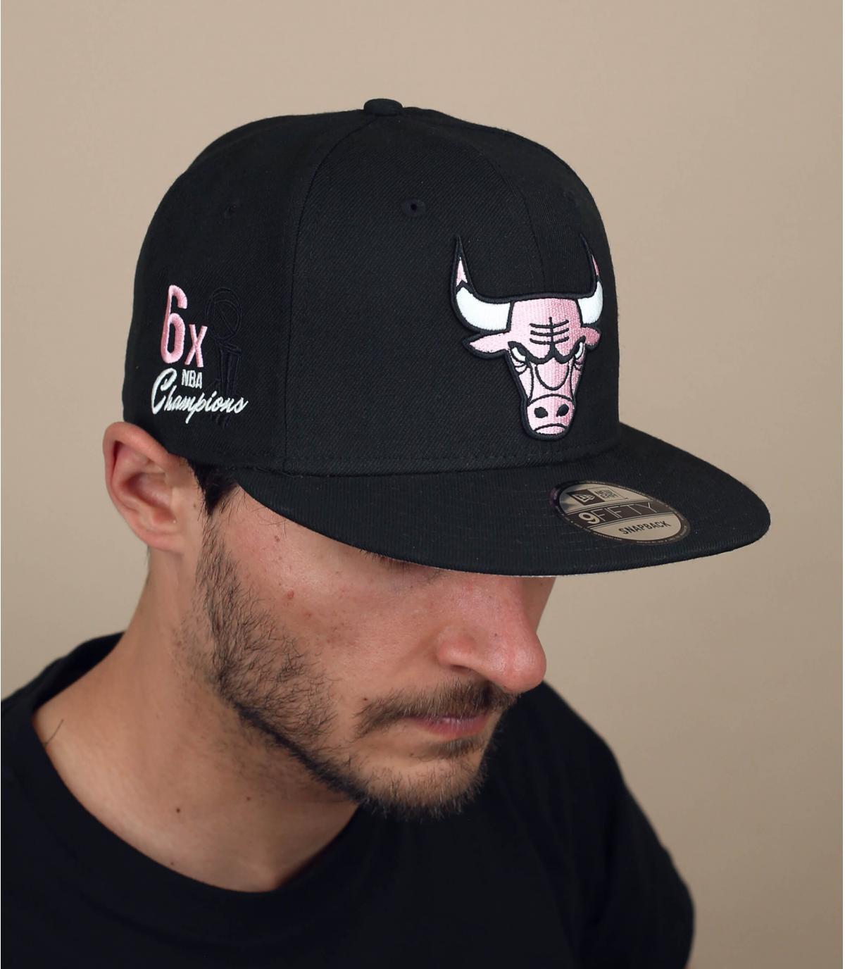 cappellino Bulls bandana rosa