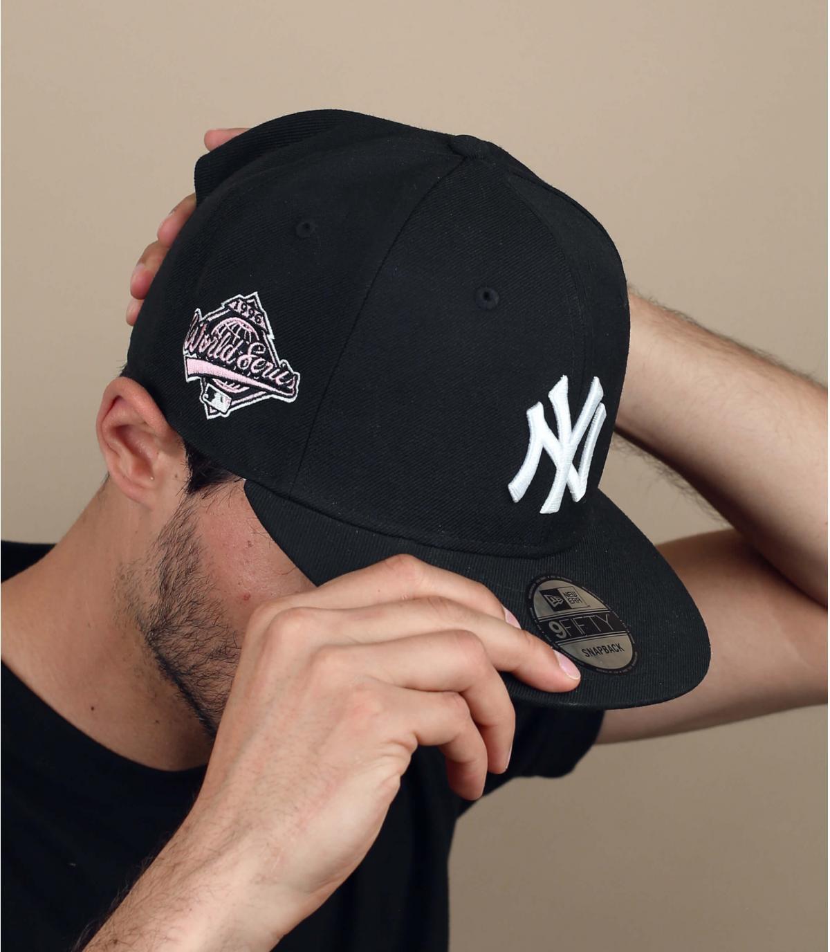 cappellino NY bandana rosa