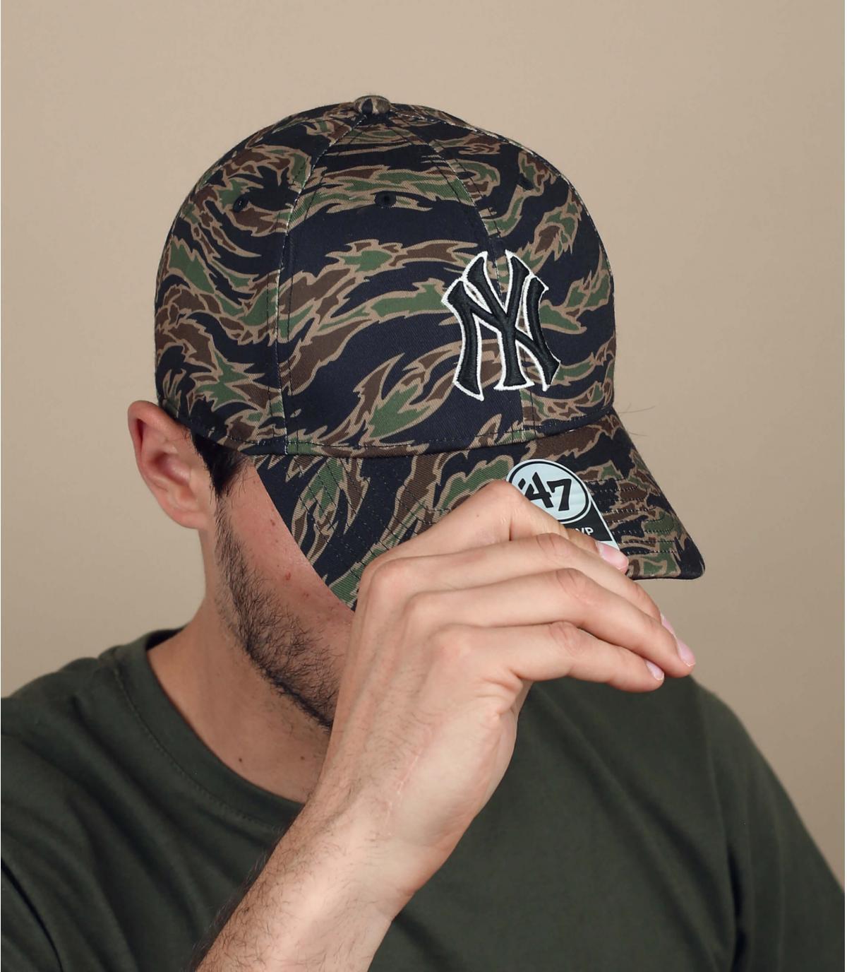 cappellino NY mimetico