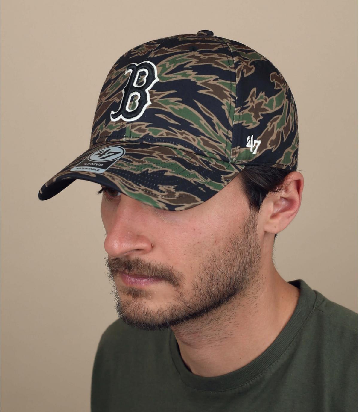 cappellino B mimetico