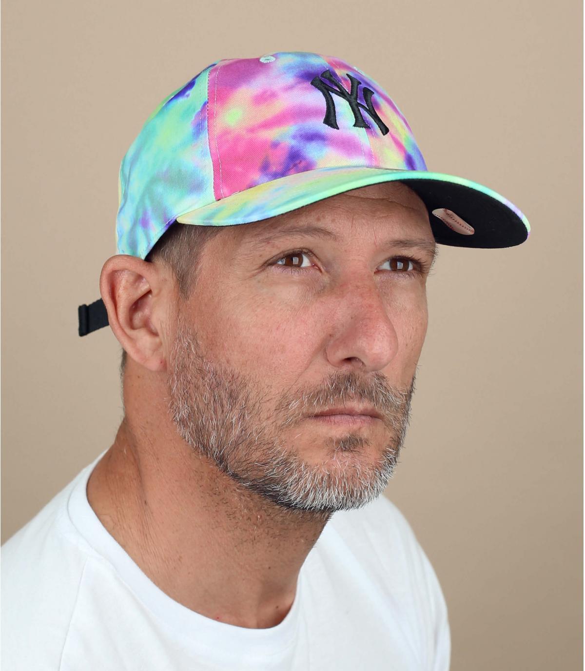 cappellino NY tie dye