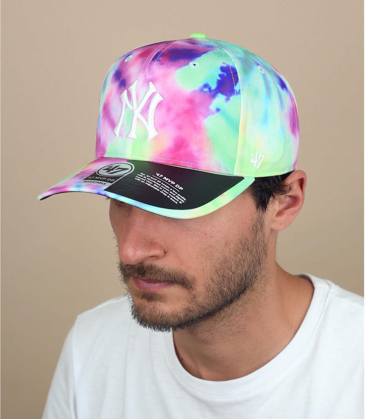 cappellino NY tie dye'47