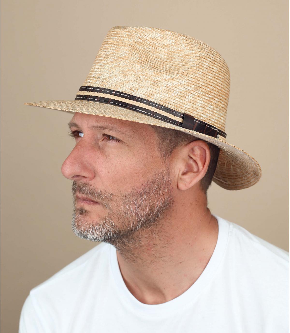 cappello paglia beige