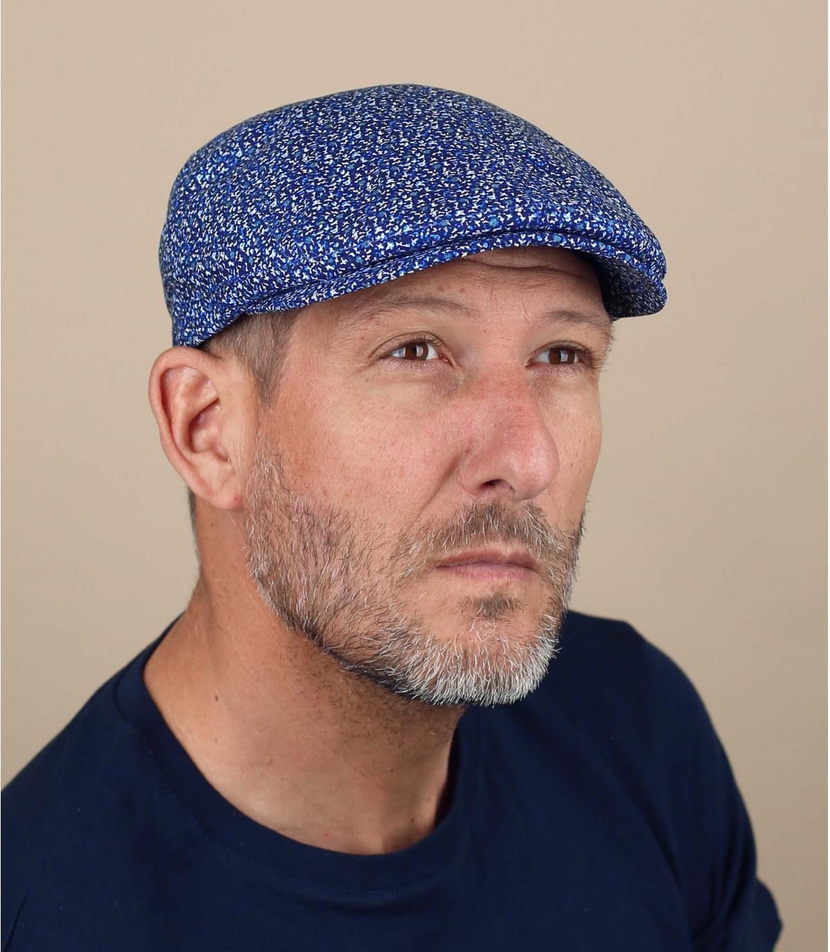 berretto blu chiné