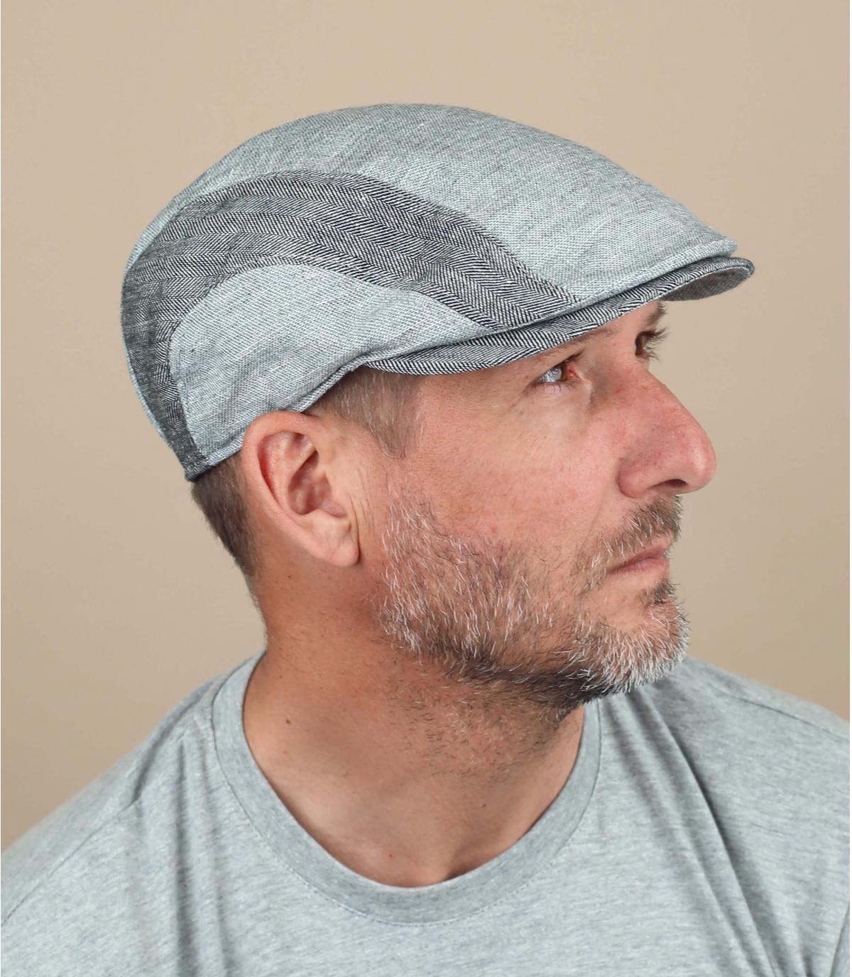 berrett grigio lino