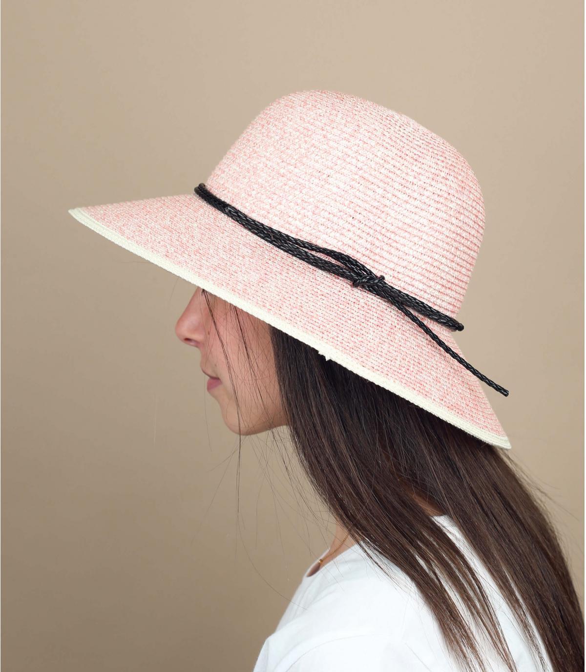cappellino viola paglia