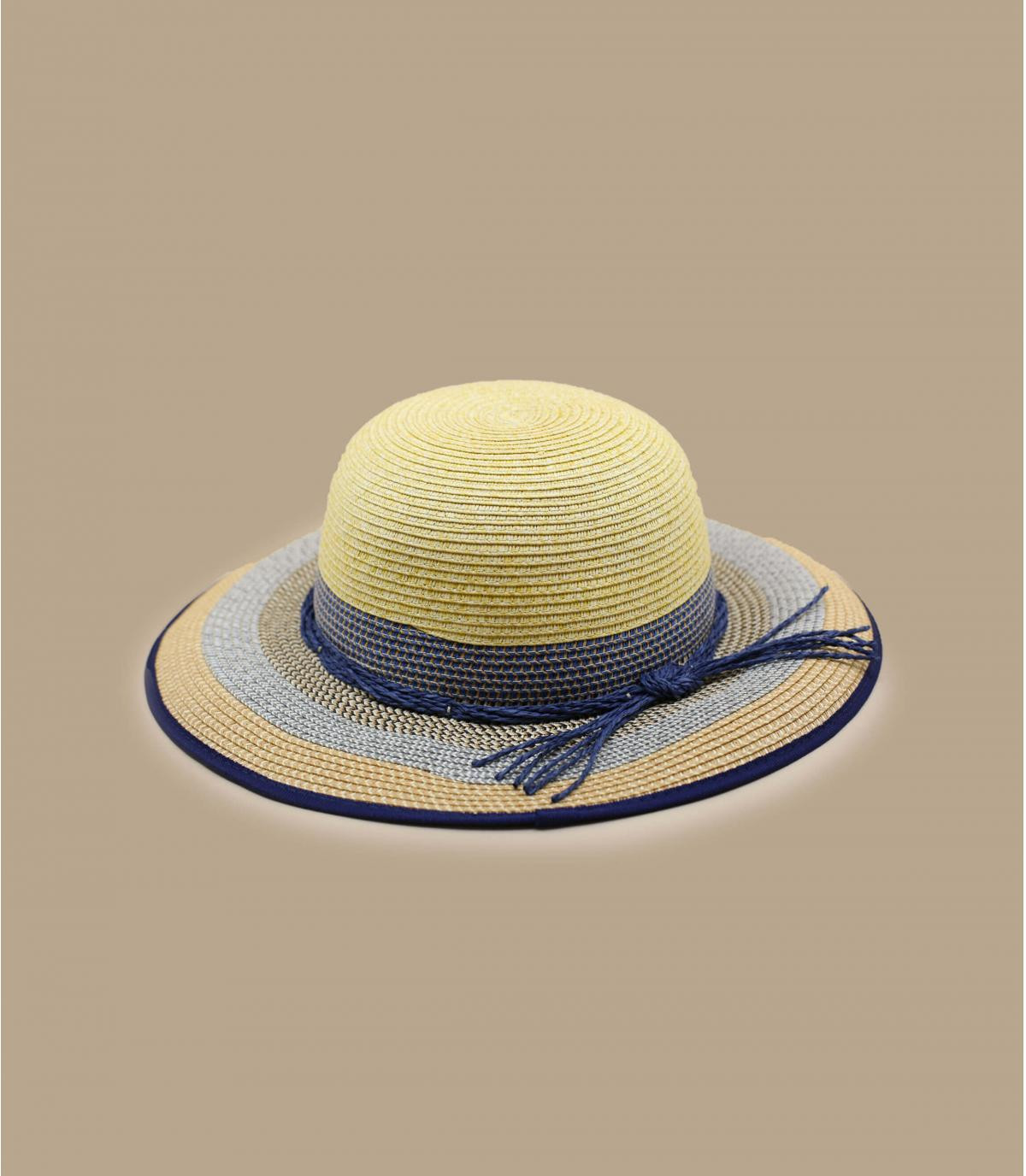 cappellino beige a righe