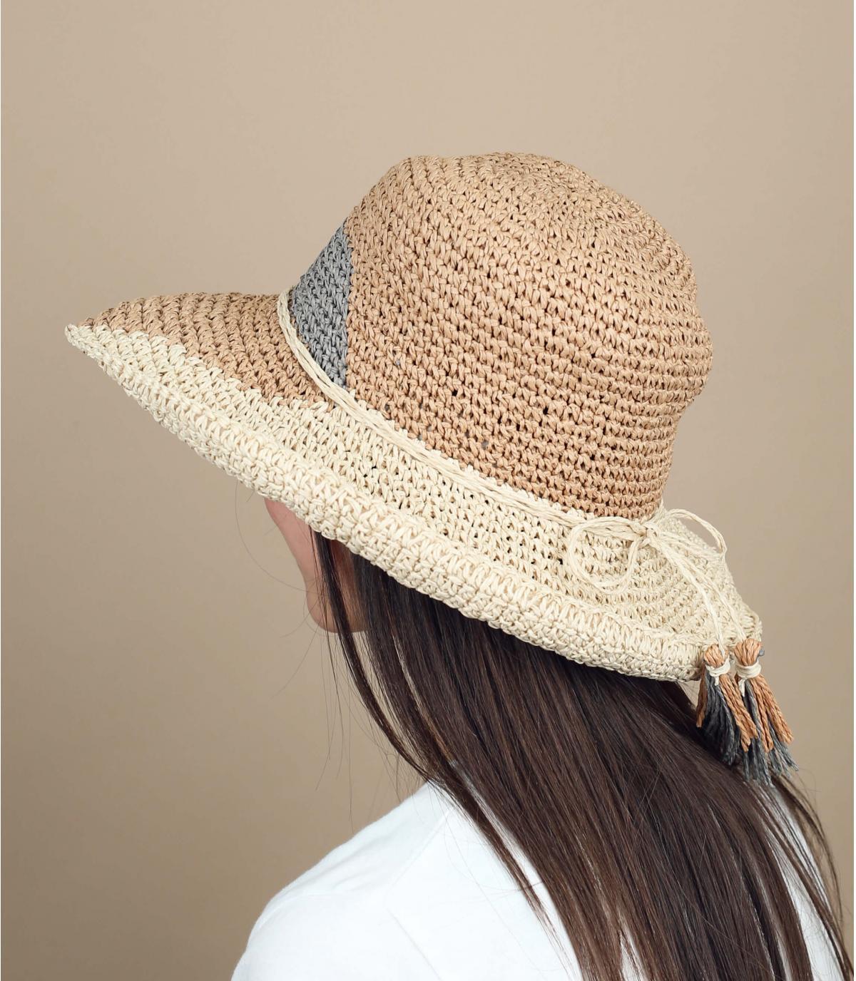 cappellino paglia multicolore