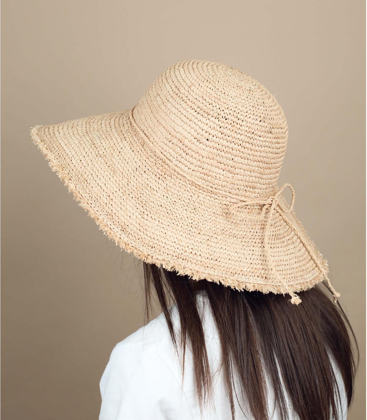 cappellino paglia sfrangiato
