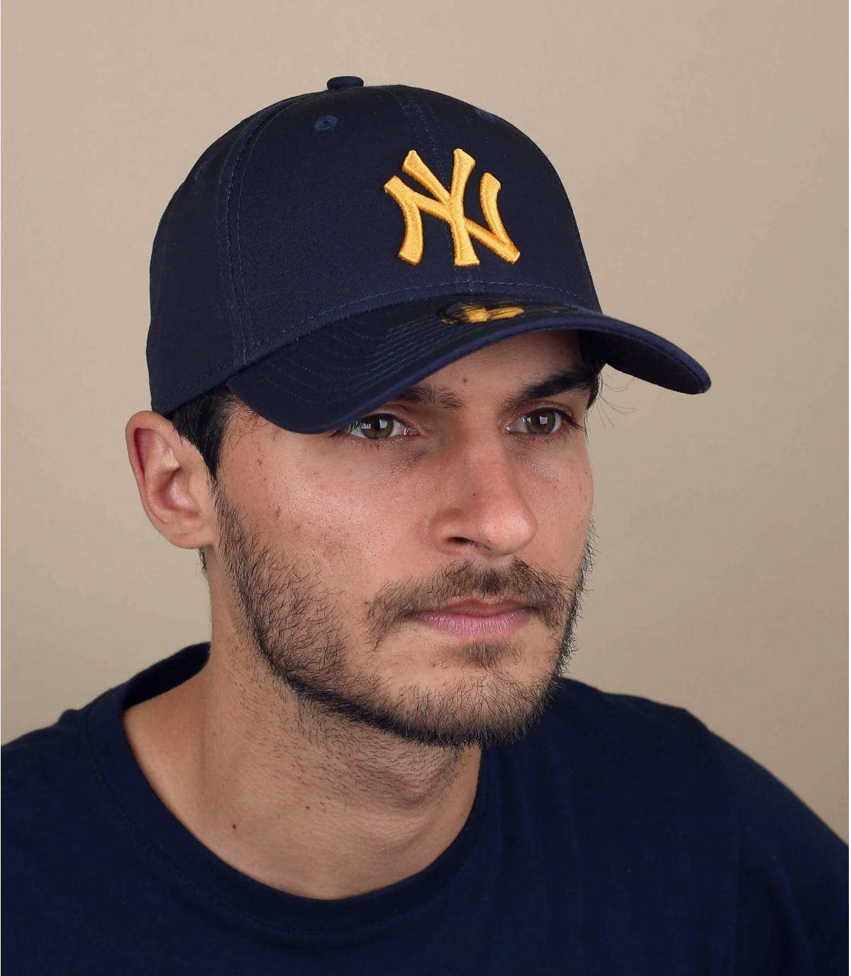 cappellino NY blu e oro