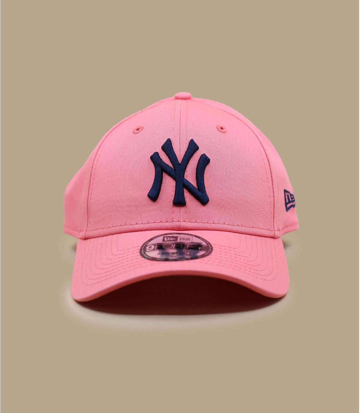 cappellino NY rosa e blu