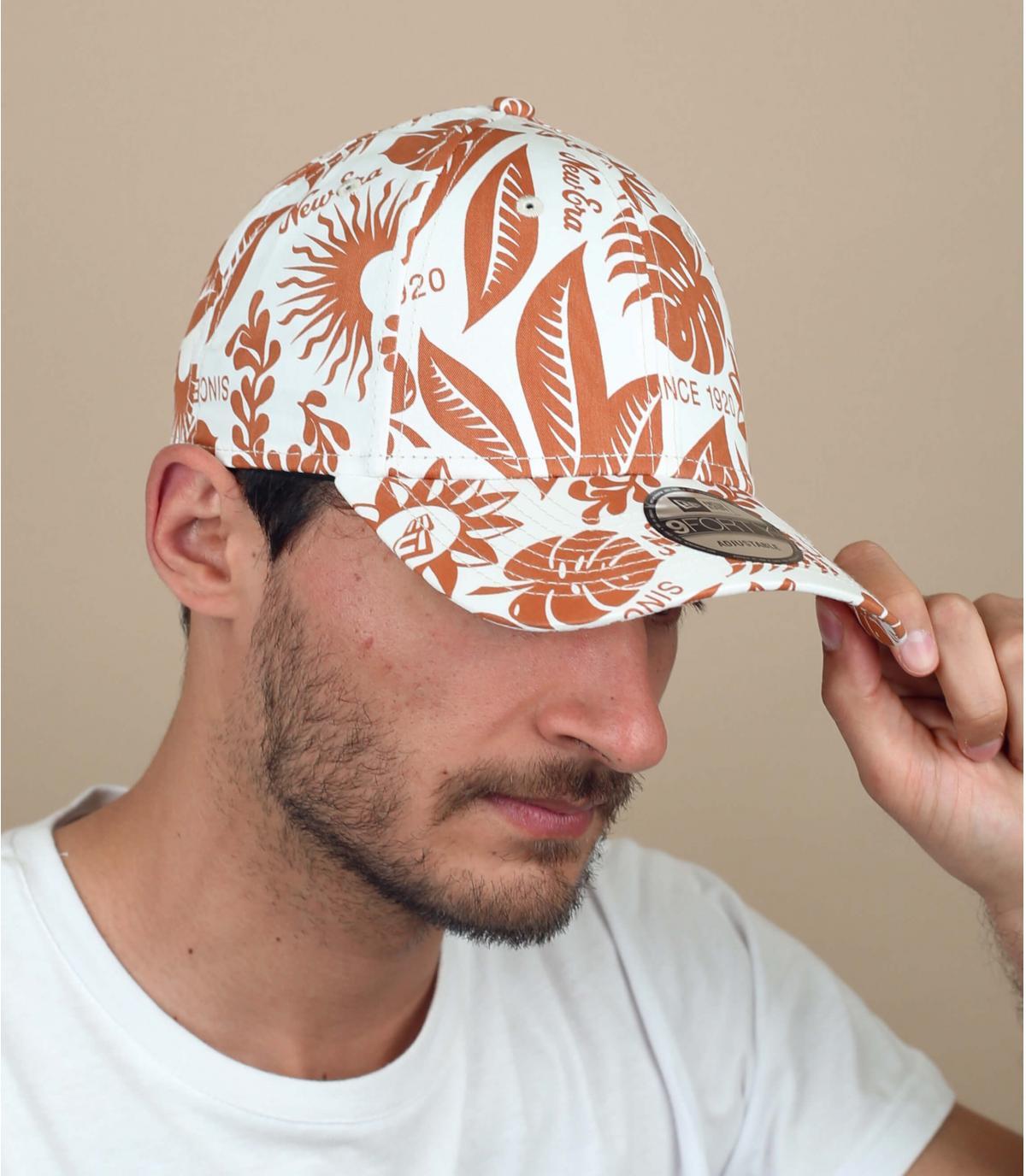 cappellino stampa floreale