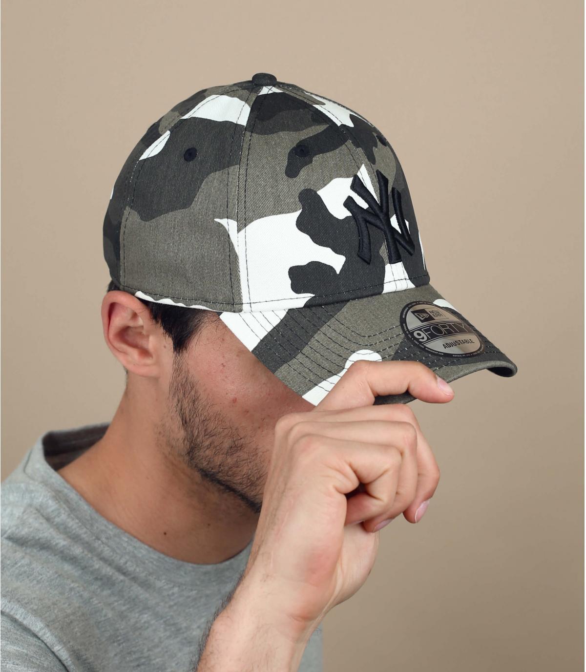 Cappellino NY mimetico grigio