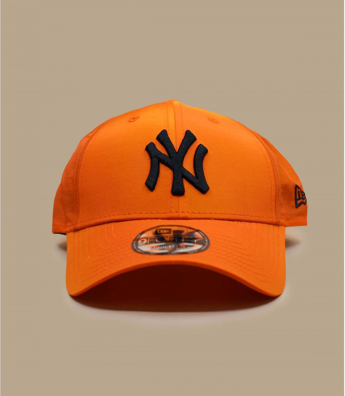 Cappellino NY arancio iridescente