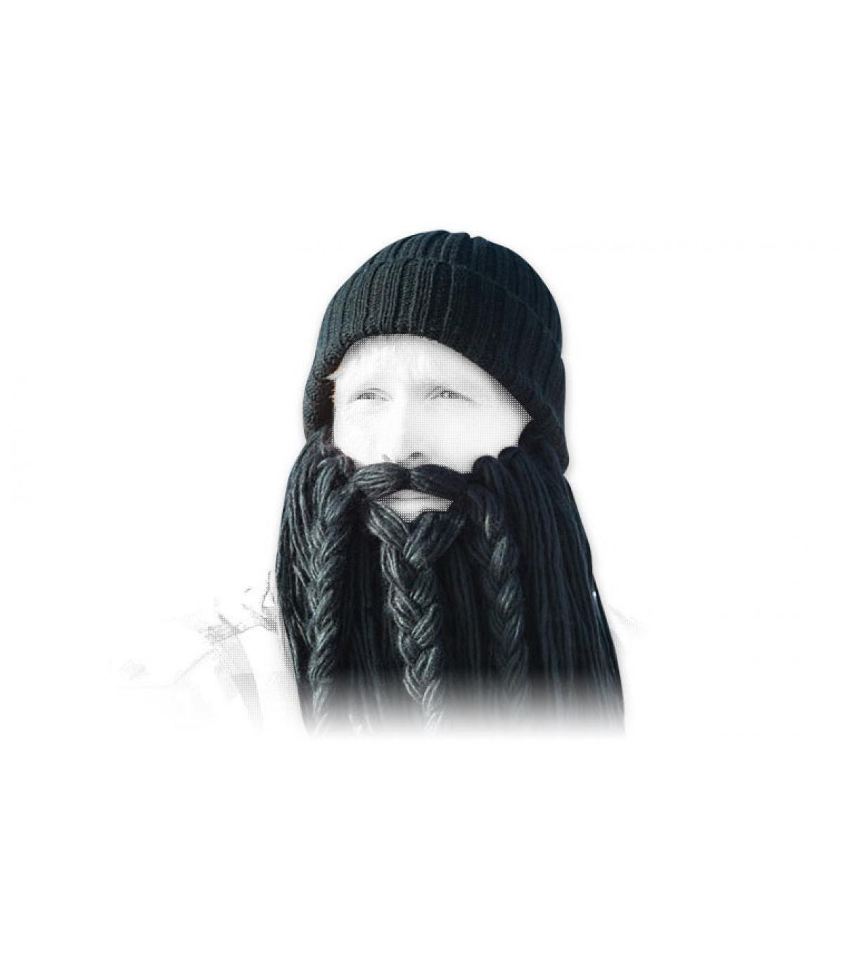 Berretto lungo nero beard viking