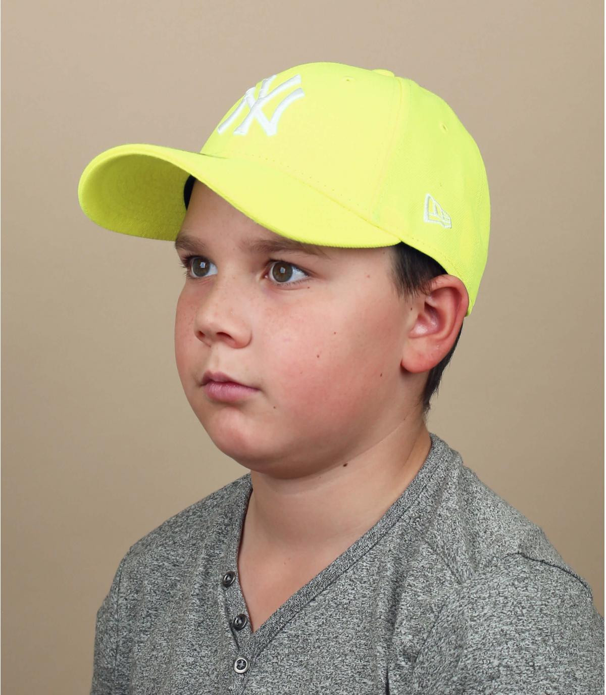 cappellino bambino  NY giallo fluorescente