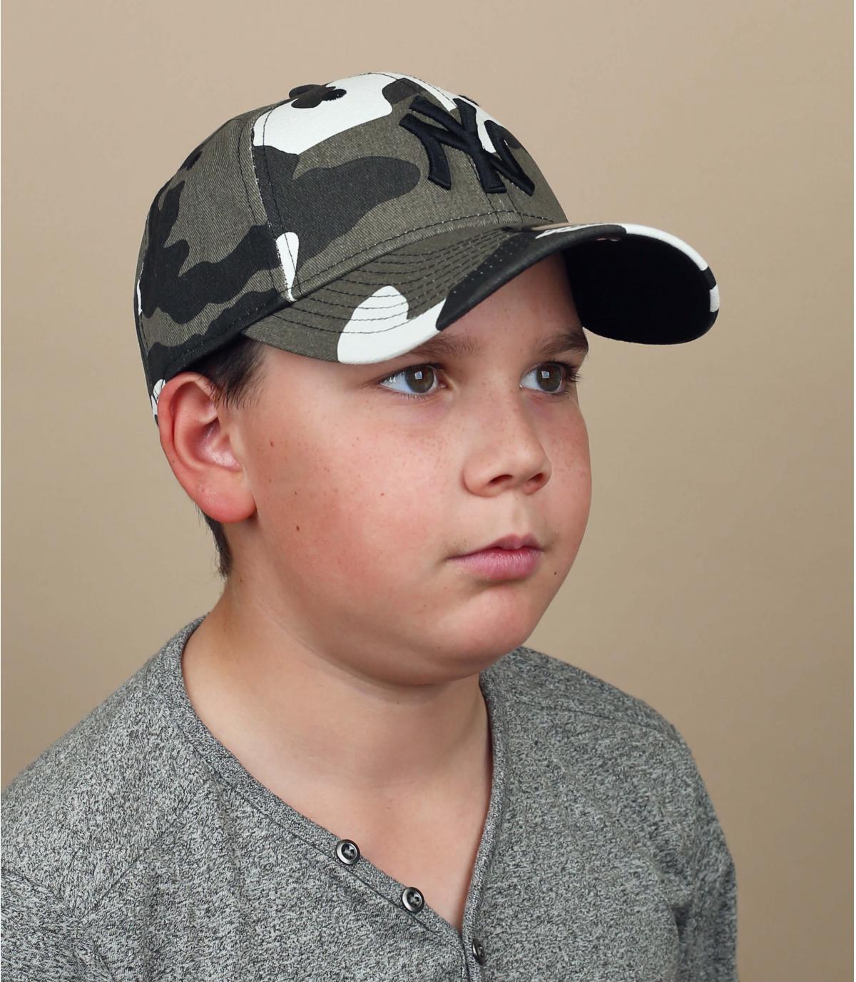 cappellino bambino mimetico grigio