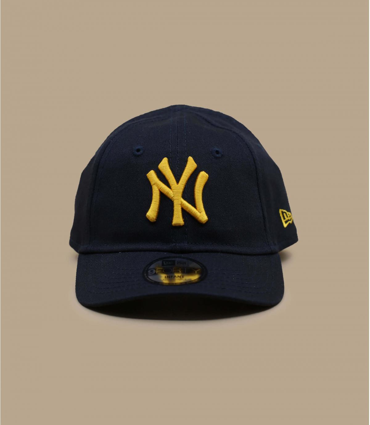 cappellino neonato NY blu navy