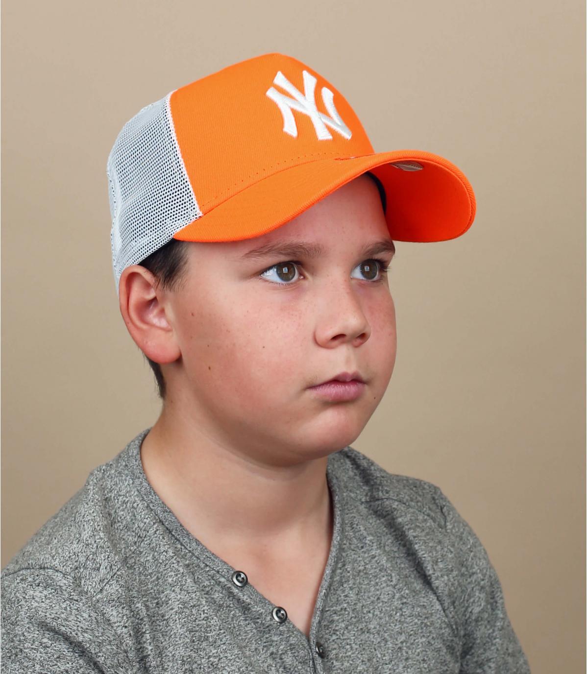 trucker NY arancio bambino