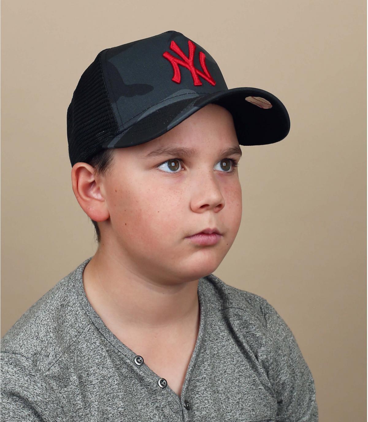 trucker NY bambino mimetico