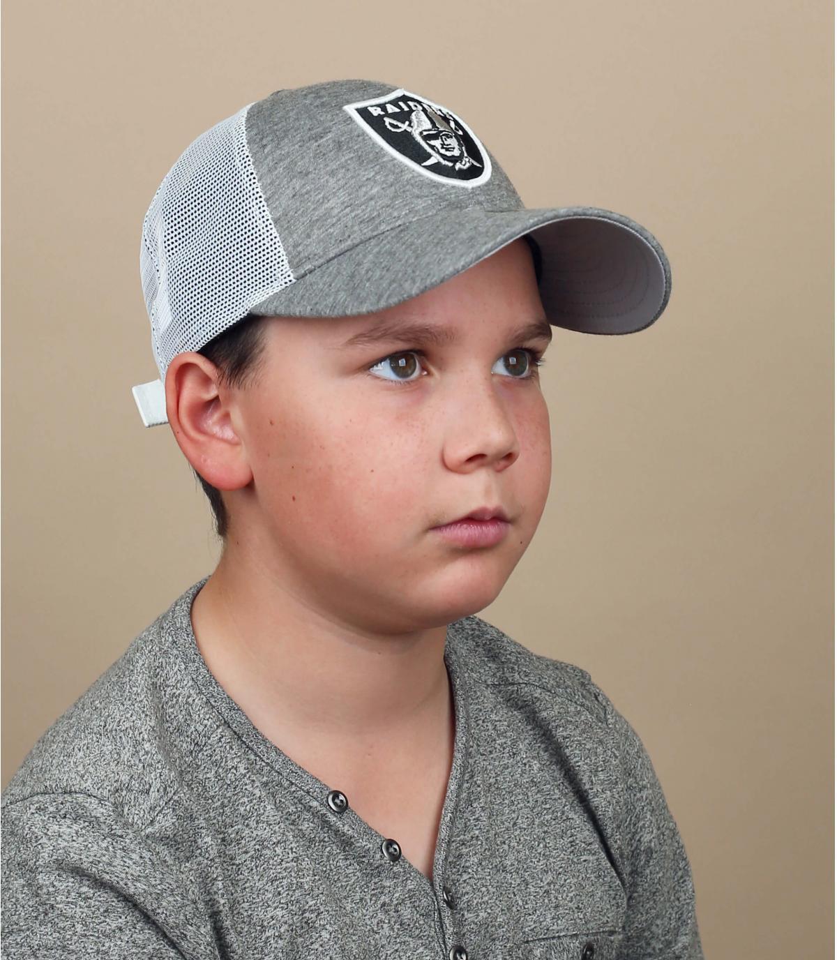 trucker Raiders bambino grigio