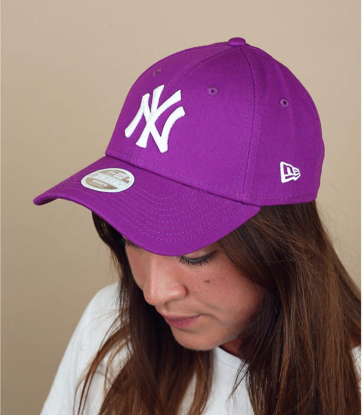 cappellino NY donna viola