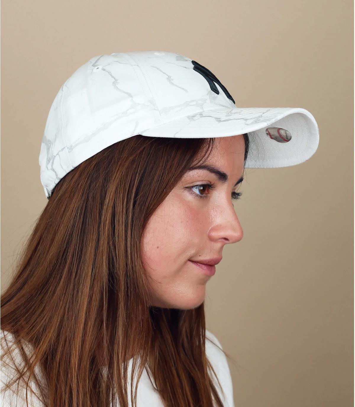cappellino NY donna bianco