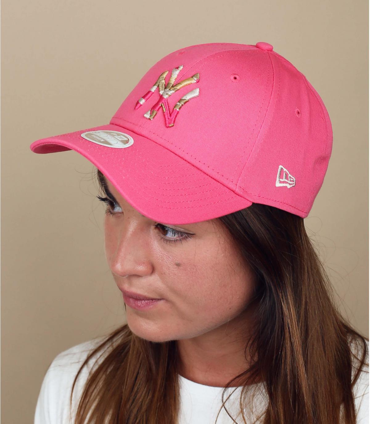 cappellino NY rosa donna