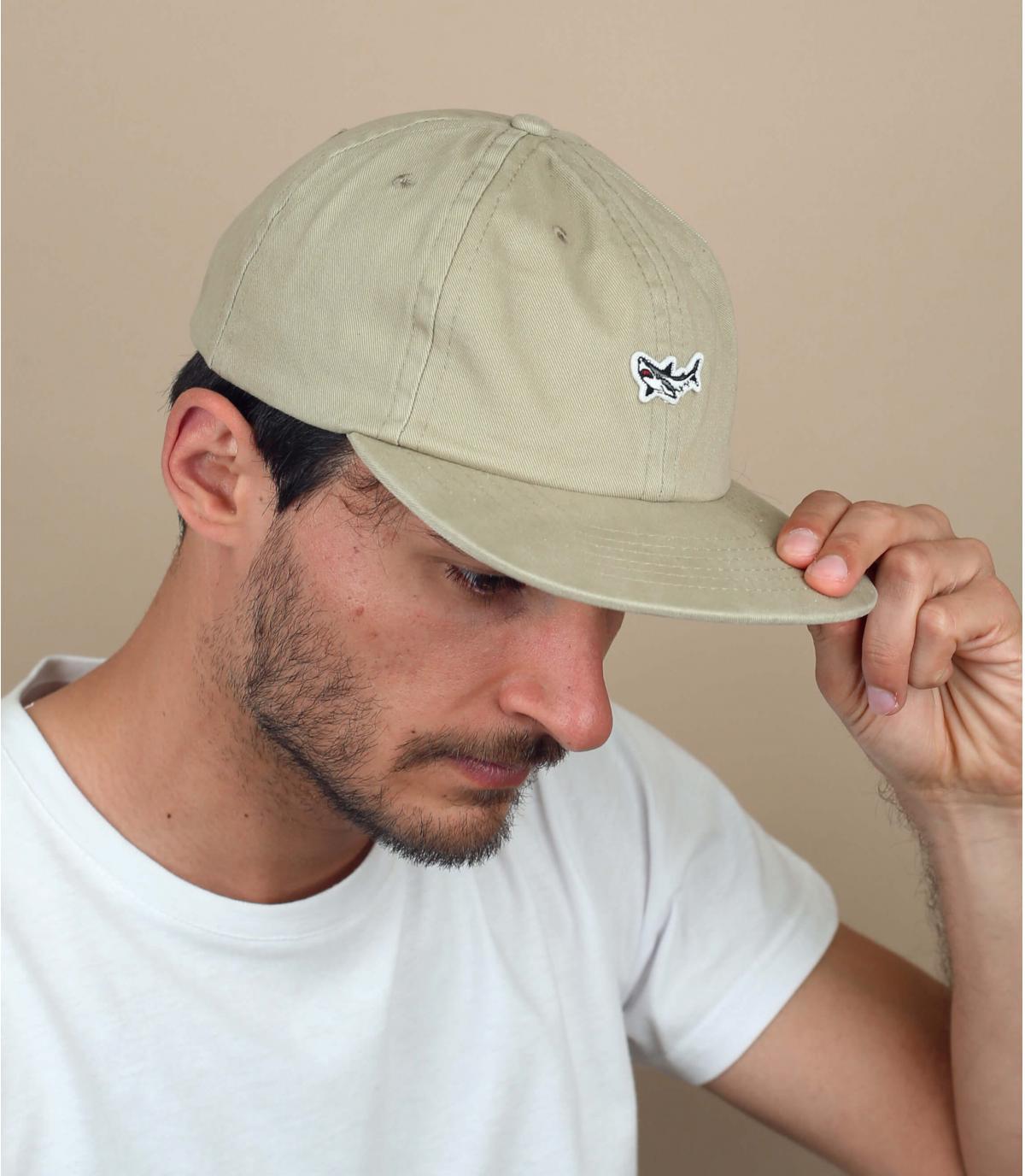 cappellino Dark Seas beige squalo