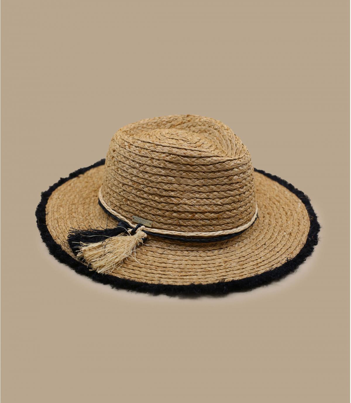 cappello paglia sfrangiato