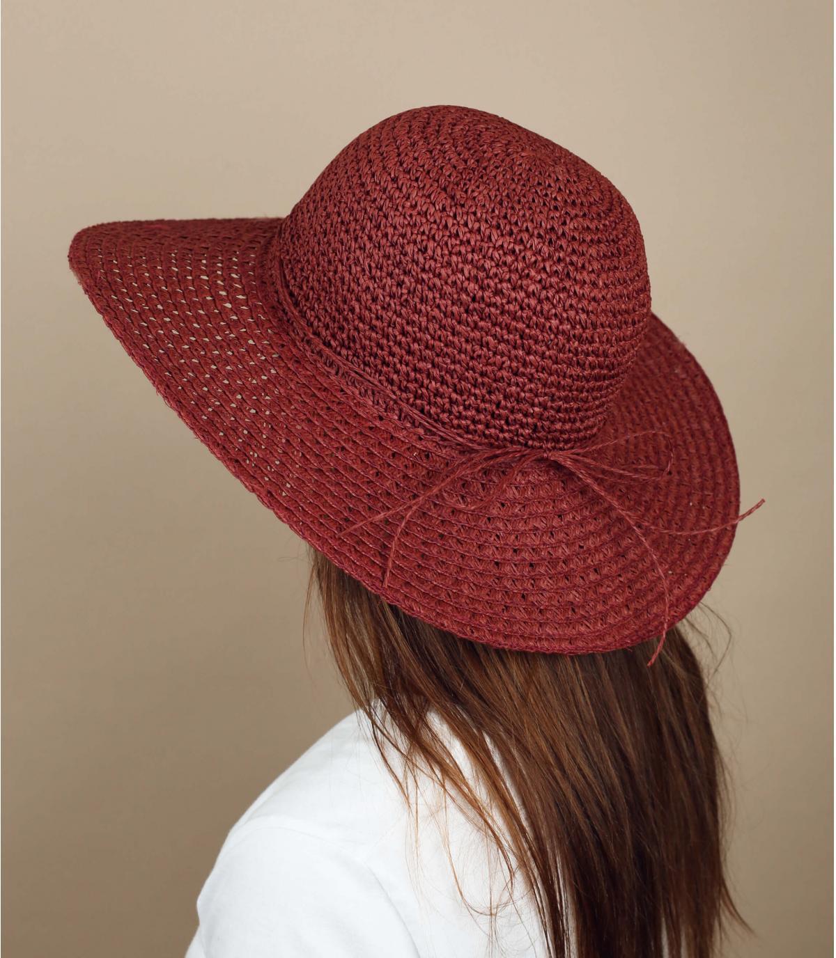 cappello paglia celeste