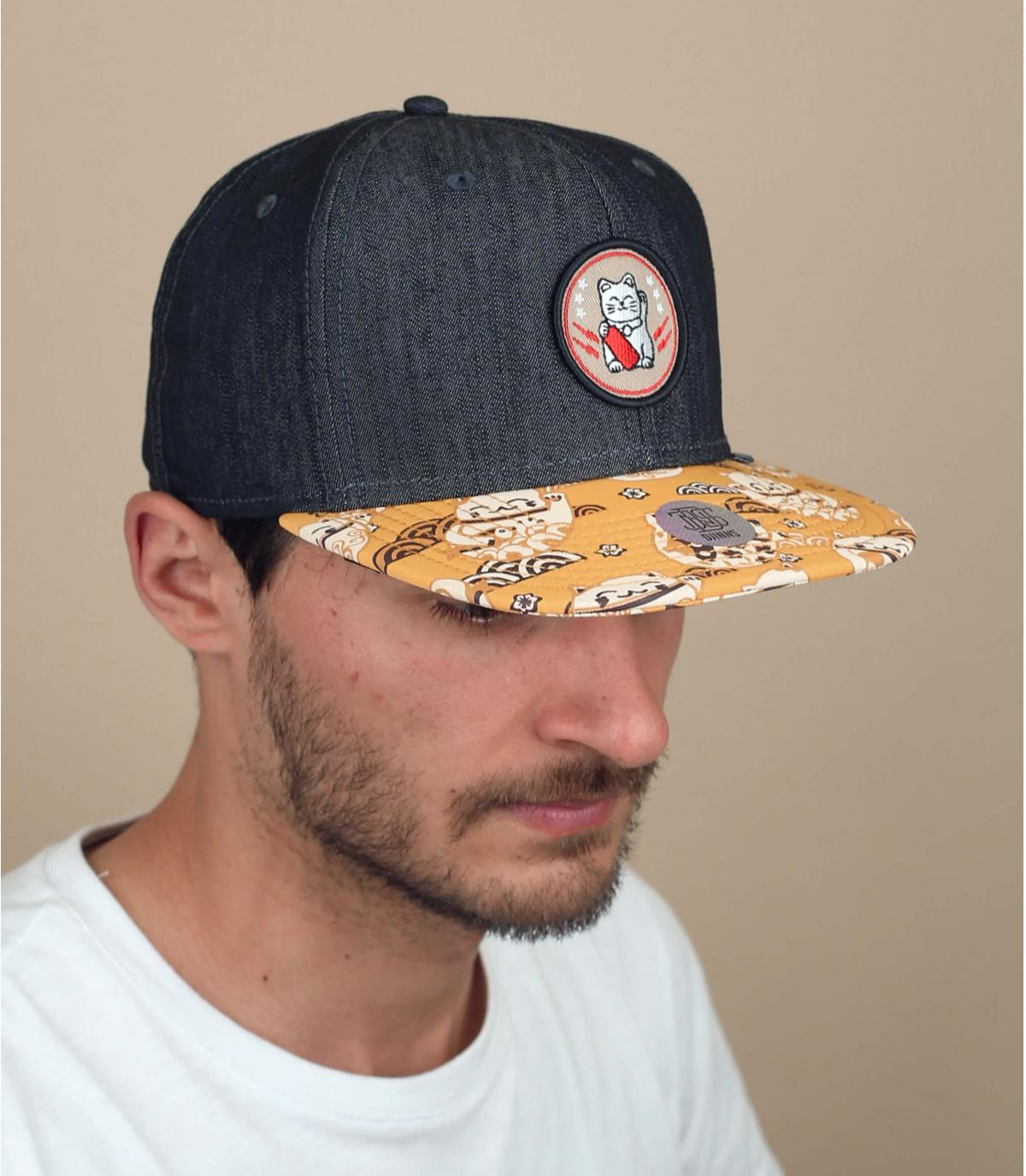 cappellino Djinns motivo gatto