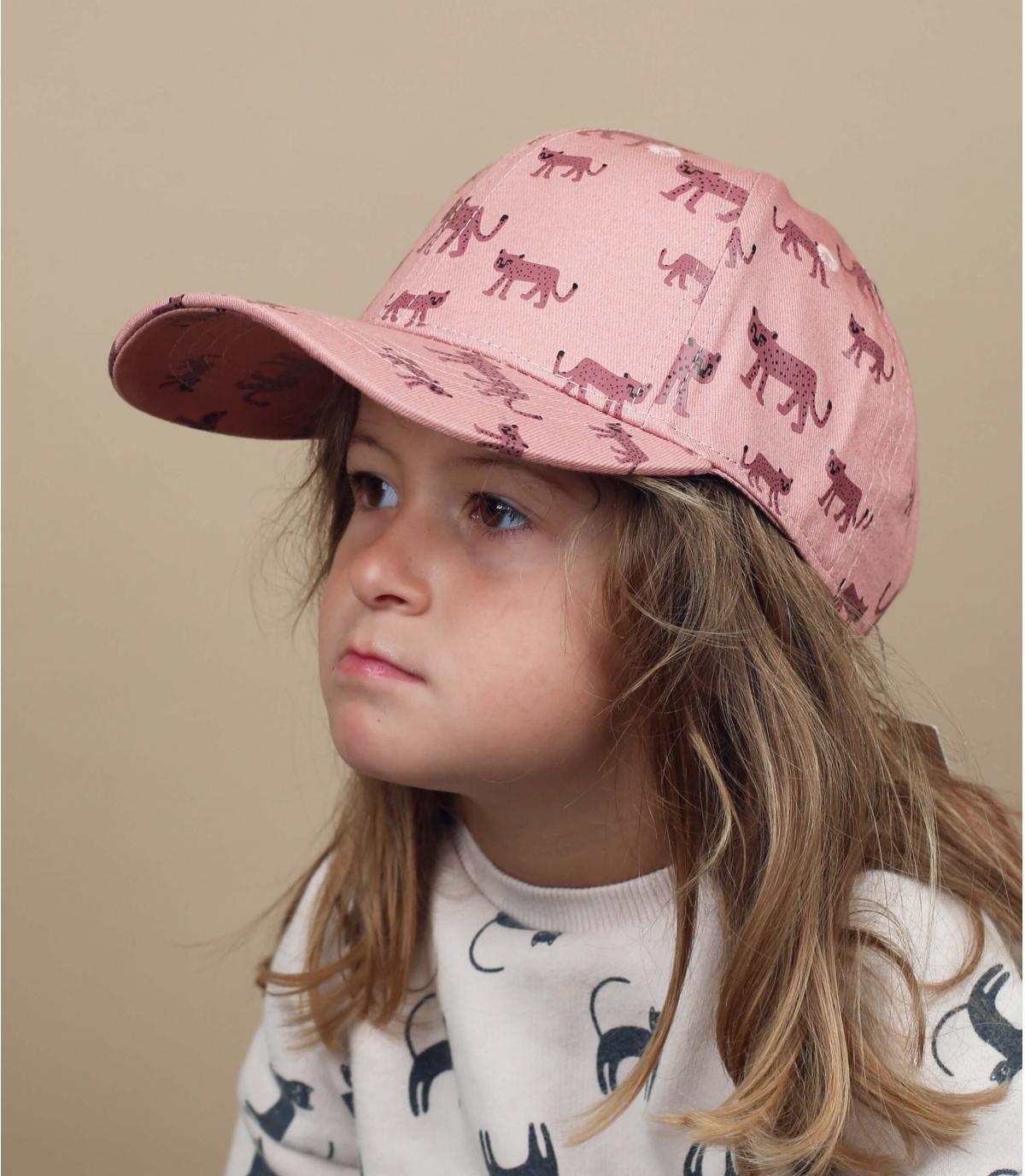 cappellino neonato leopardo rosa