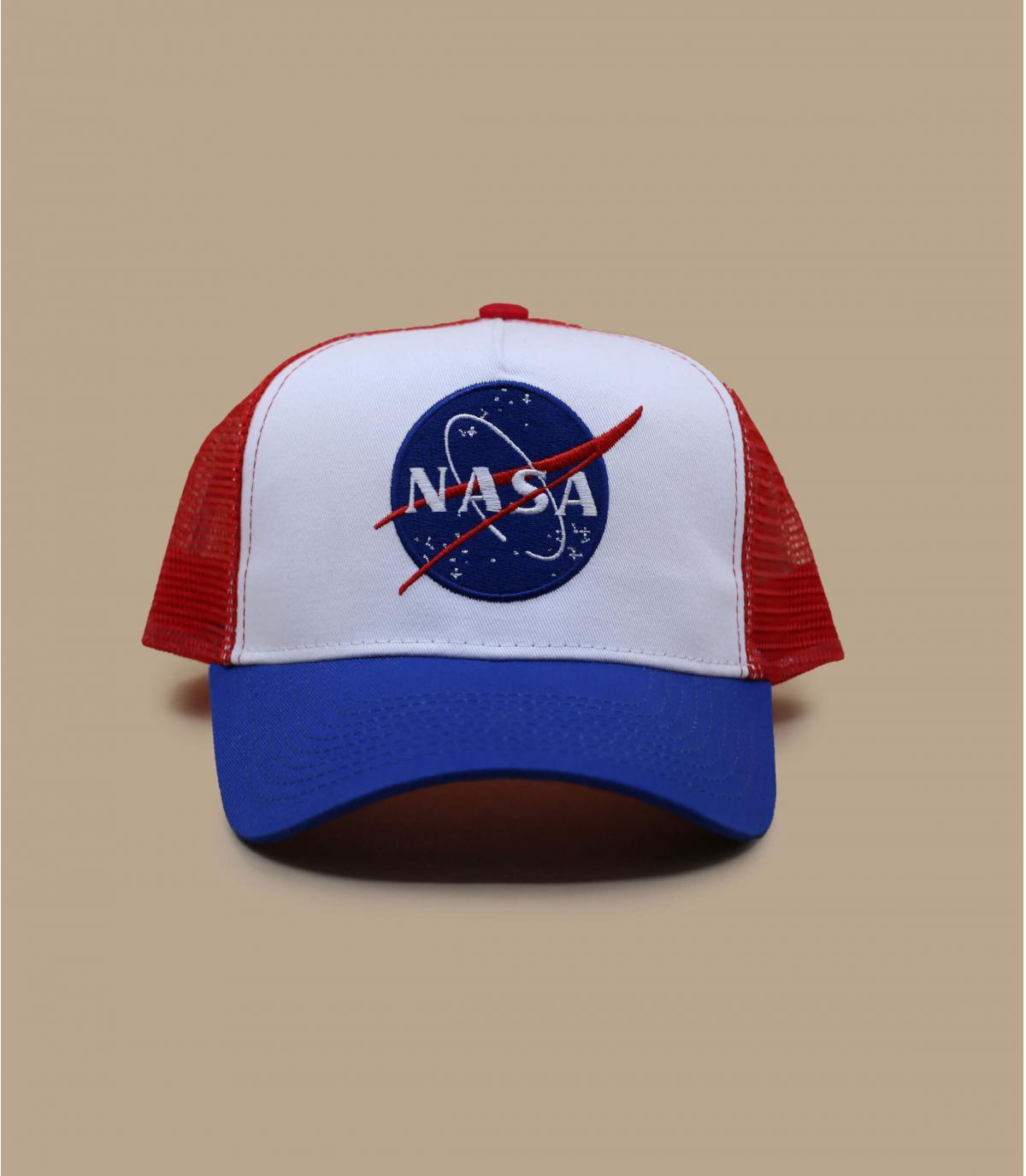 trucker NASA blu bianco rosso