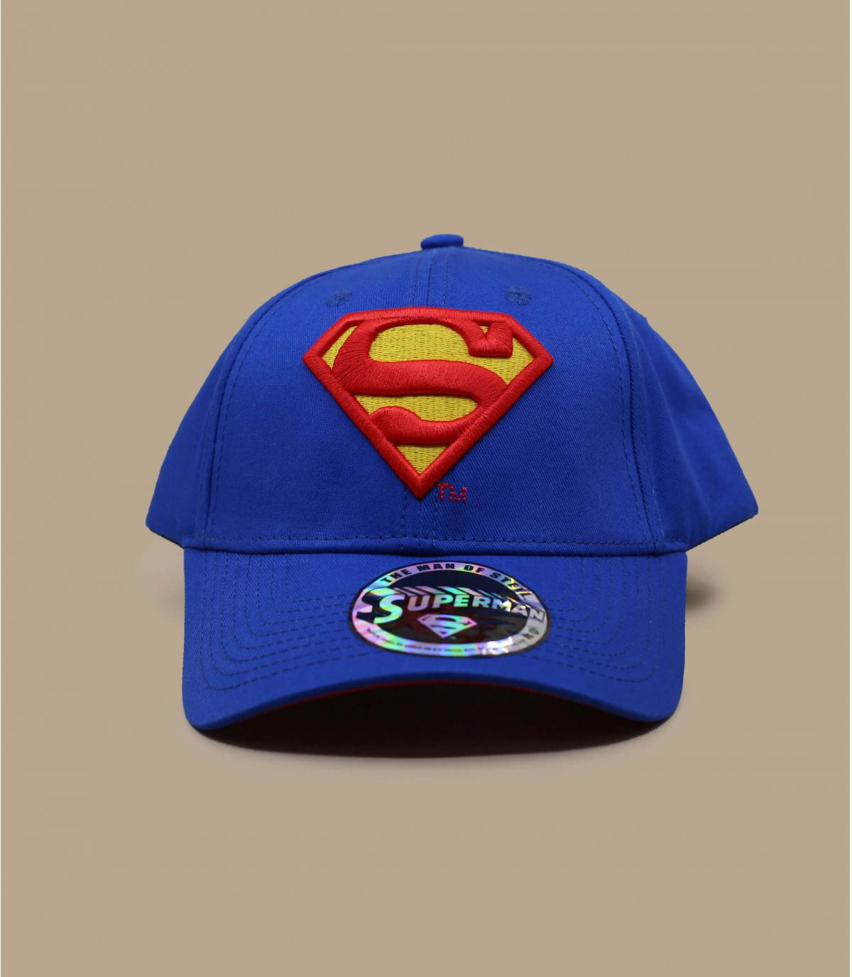 cappellino superman blu