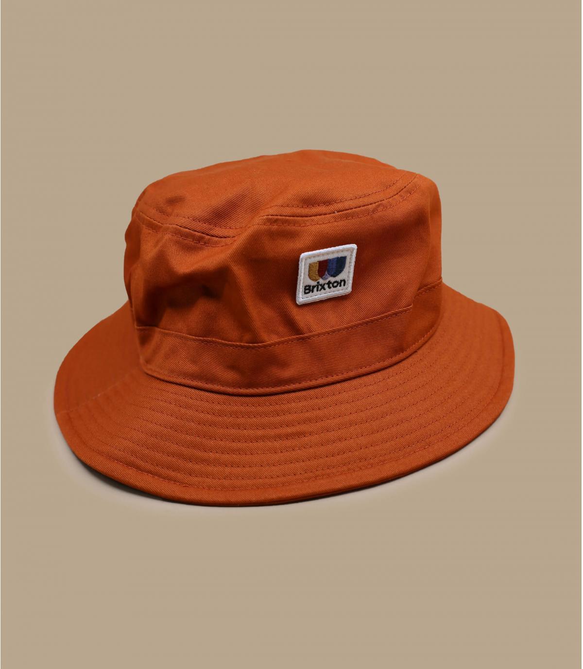 cappello pescatore arancio Brixton