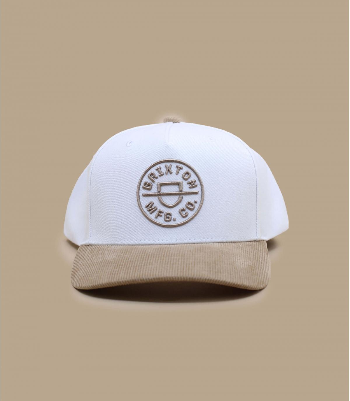 cappellino bianco beige Brixton