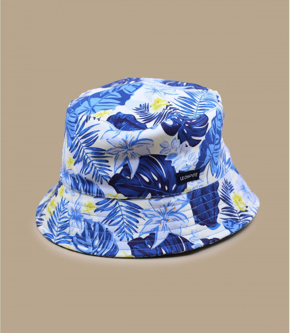 cappello da pescatore giungla blu