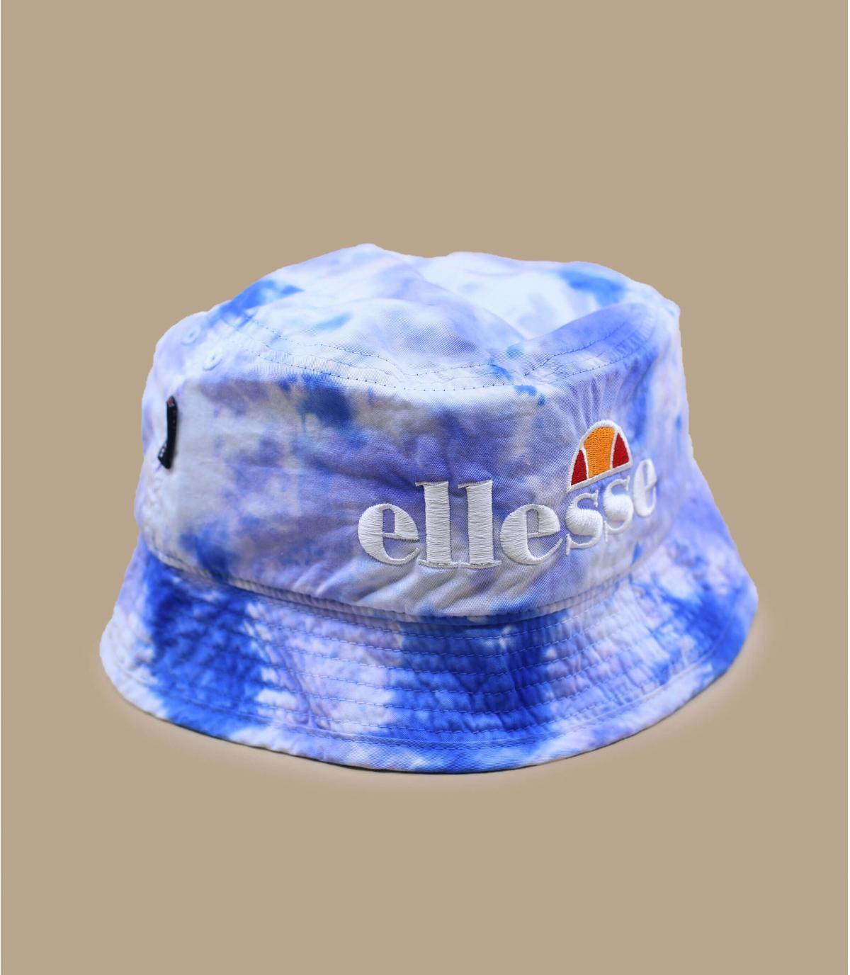 cappello da pescatore tie dye blu