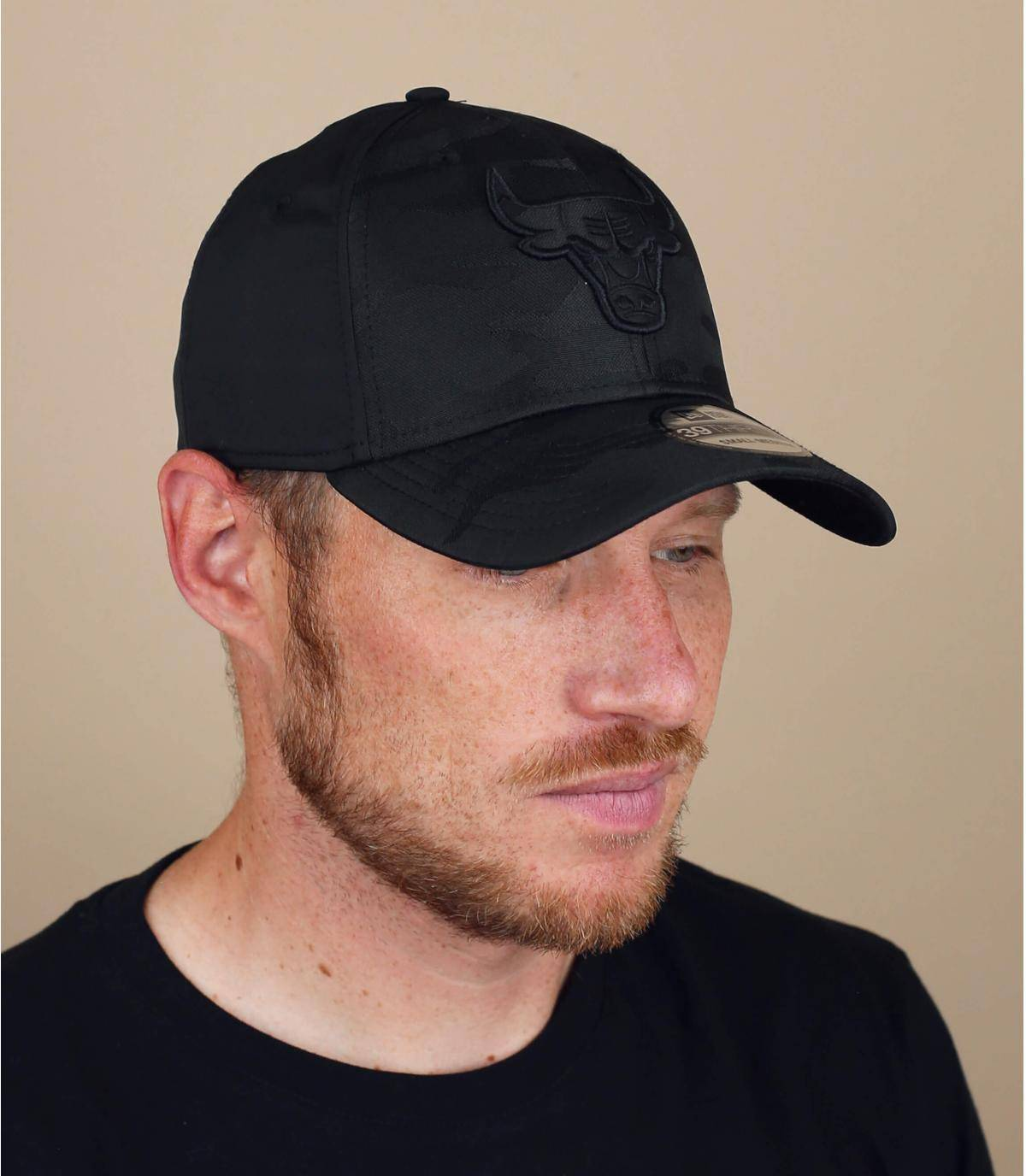 cappellino Bulls nero mimetico
