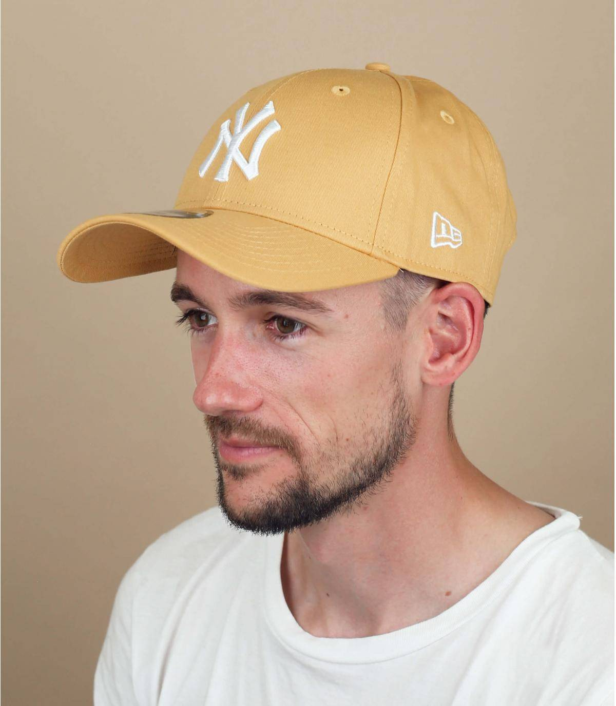 cappellino NY giallo