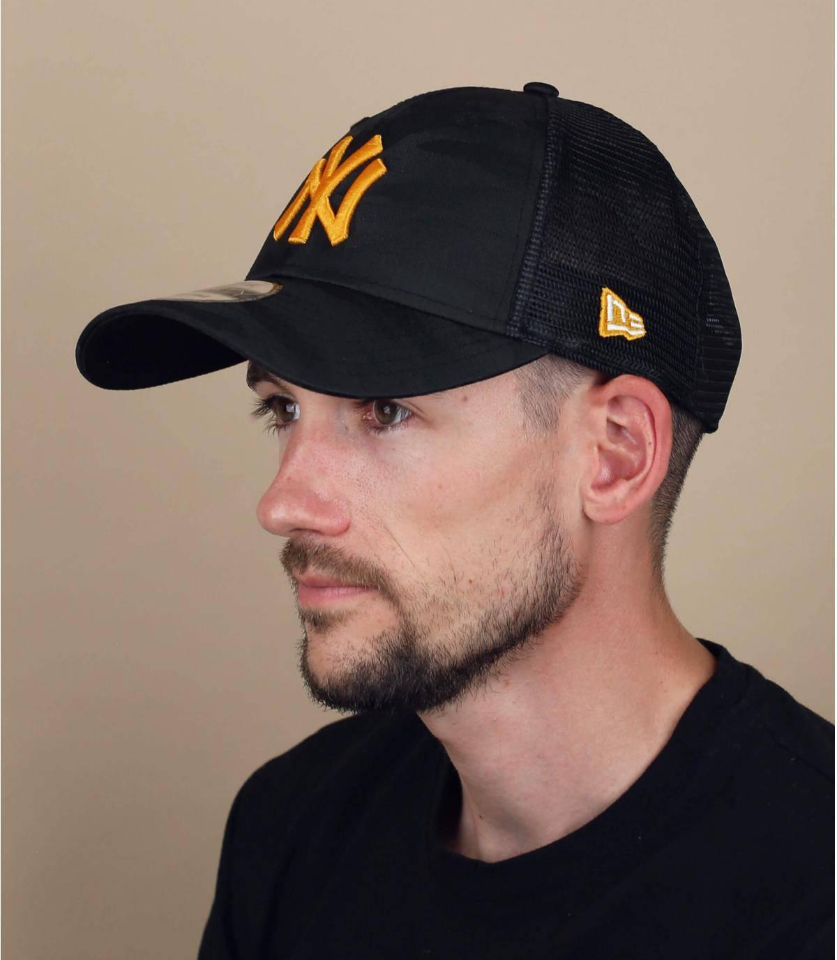 trucker NY mimetico giallo