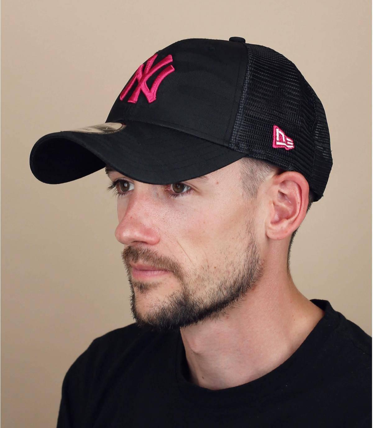 trucker NY mimetico rosa