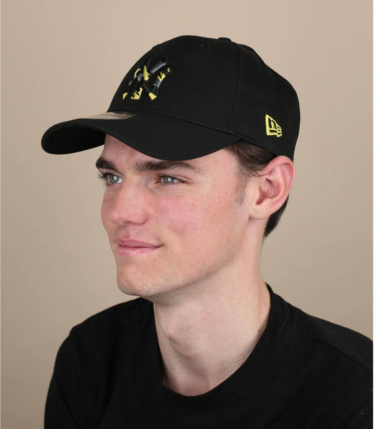cappellino NY nero mimetico