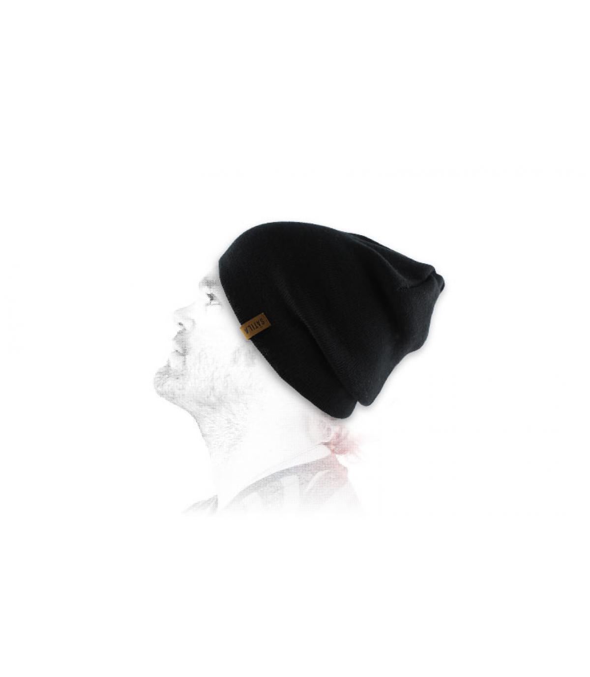 S.F black beanie