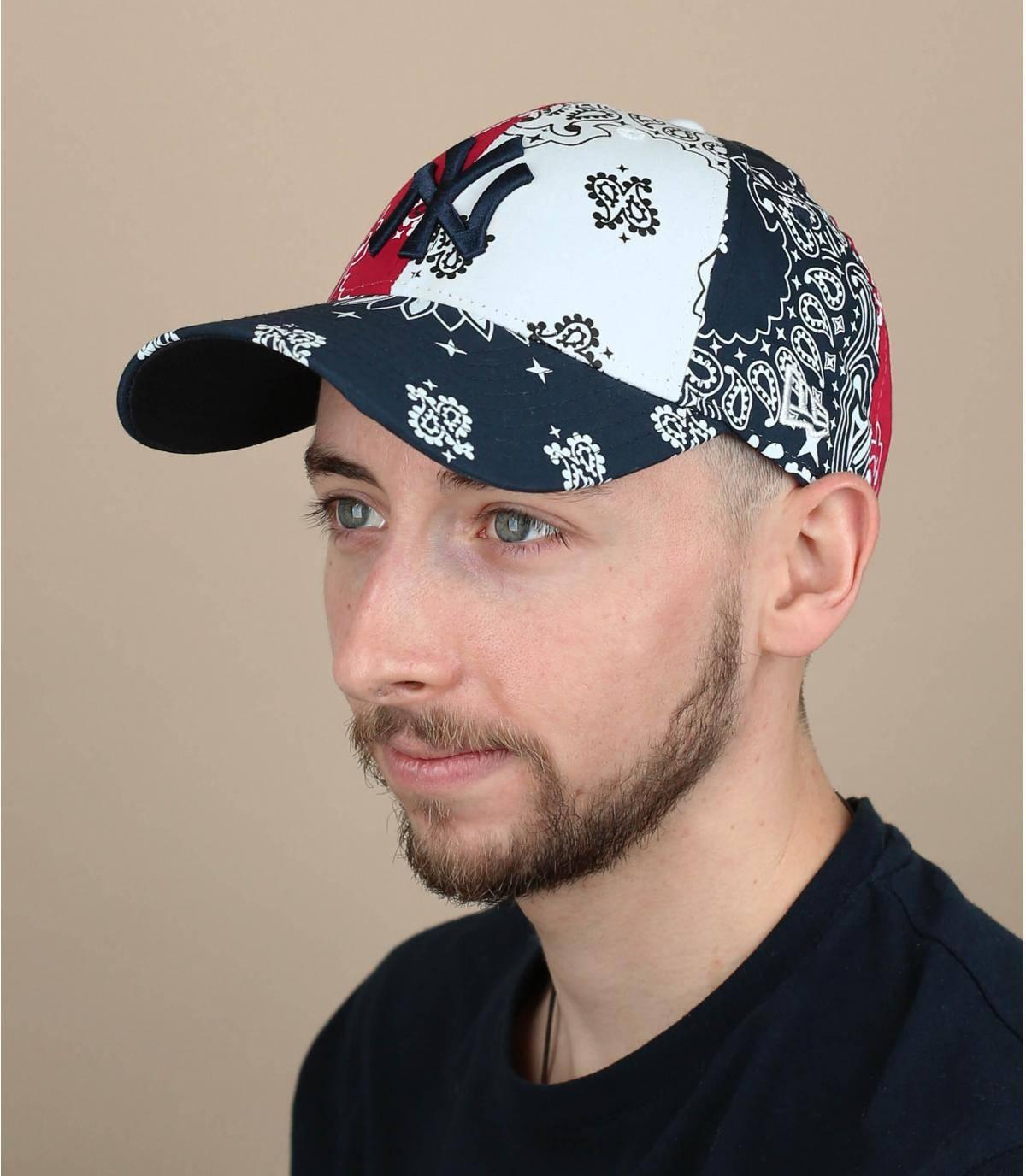 cappellino NY bandana blu
