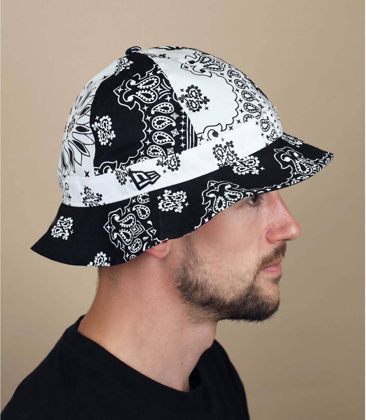 cappello da pescatore bandana nero