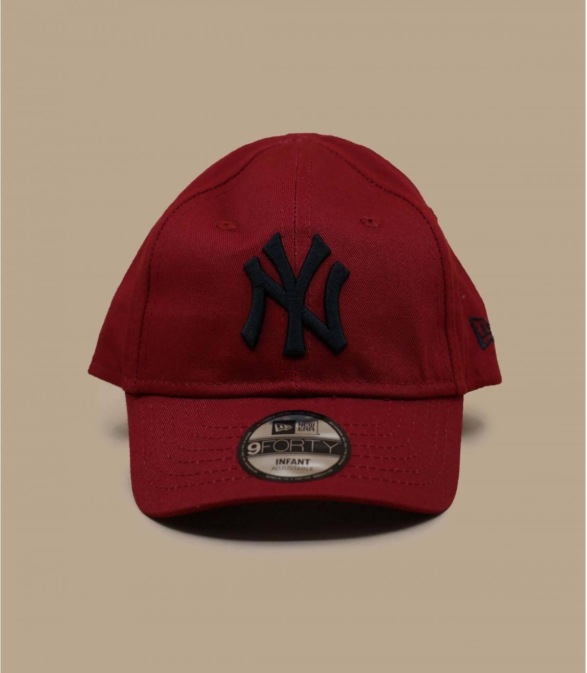 cappellino NY neonato rosso