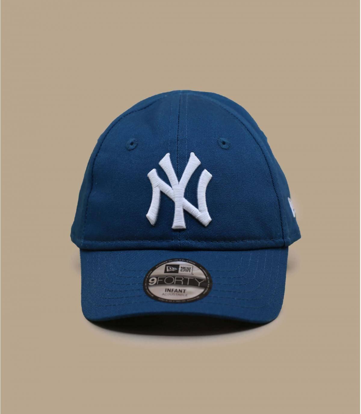 cappellino NY neonato blu